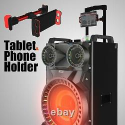 10000W Rechargeable Bluetooth Party speaker and Karaoke machine with disco ball