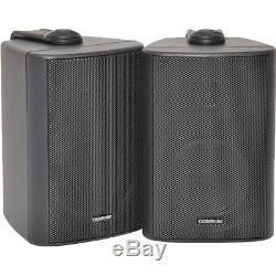 110W Bluetooth Amplifier & 2x Corner Wall Speakers Compact Wireless HiFi TV Kit