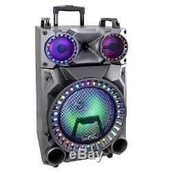12 BLUETOOTH FM RADIO USB PORTABLE PARTY SPEAKER witht RECHARGEABLE BATTERY