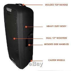 12 Bluetooth Portable Pa Party Speaker System Wireless MIC Microphone Remote
