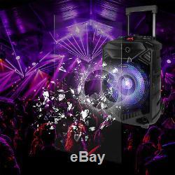 12 Portable Bluetooth Bass Karaoke Party PA BT Speaker + Speaker Tripod Stand