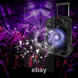 12 Portable Wireless Speaker Party DJ PA System Wireless Stereo with Mic US