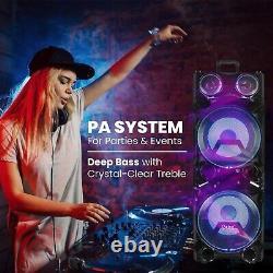 12000W High-End Rechargeable Bluetooth Party Speaker Karaoke machine deep Bass