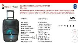 15 FM Bluetooth Speaker Subwoofer Heavy Bass Sound System Party Portable