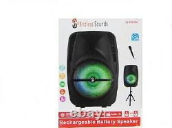 15 Portable Bluetooth Speaker Sub woofer Heavy Bass Sound System Party