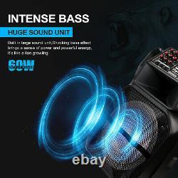 15 Portable Bluetooth Speaker Subwoofer Heavy Bass Party DJ System Mic AUX FM