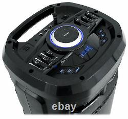 2 Rockville Go Party ZR10 Dual 10 Wireless Linking LED Bluetooth Speakers+Mics