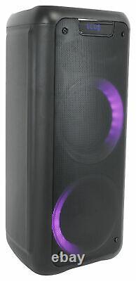 (2) Rockville ROCK PARTY 6 Dual 6.5 Wireless Linking Battery Powered Speakers