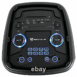 (2) Rockville ROCK PARTY 8 Dual 8 Wireless Linking Battery Powered Speakers