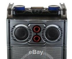 2500w TRIPLE 10 Subwoofers PORTABLE PARTY PA Speaker BLUETOOTH MIC REMOTE BASS
