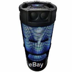 360 Degree Sound 12 Subwoofer Portable Bluetooth DJ Party Speaker Lights 2 Mics