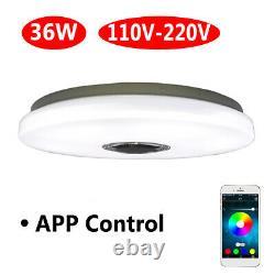 36W 110V Modern LED Music Ceiling Light RGB bluetooth Speaker Down
