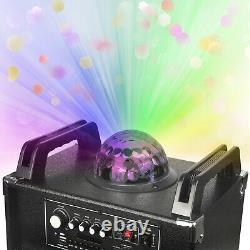 4000W Dual 10 Subwoofer Portable Bluetooth Party Speaker With Remote Light Mic