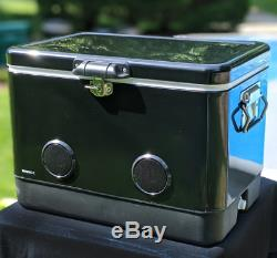 54 Quart BREKX Party Cooler with High-Powered Bluetooth Speakers Black