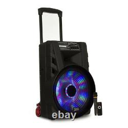 Acoustic Audio Battery Powered 15 Bluetooth Party Speaker with Lights and Mic