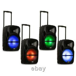 Acoustic Audio Rechargeable 12 Bluetooth Party Speaker with Lights & Wireless Mic