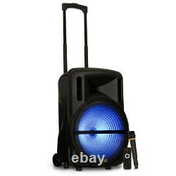 Acoustic Audio Rechargeable 15 Bluetooth Party Speaker with Lights & Wireless Mic