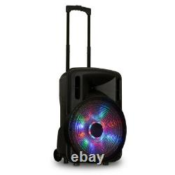 Acoustic Audio Rechargeable 15 Bluetooth Party Speakers with Lights Mics & Stands