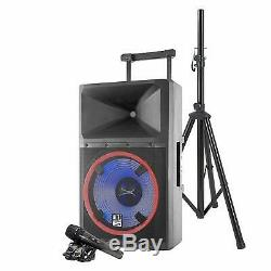 Altec Lansing 2200W Bluetooth Party PA DJ Speaker With Party Lights & Stand