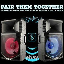 Altec Lansing ALP-T1500PK Waterproof Bluetooth Wireless Party LED DJ PA Speakers