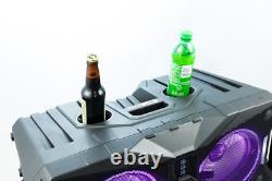 Altec Lansing Portable Wireless Bluetooth Waterproof LED Party Speaker ALP-AP850