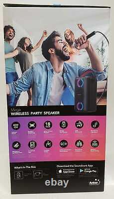 Anker Soundcore MEGA Party Proof Wireless Bluetooth Speaker Black