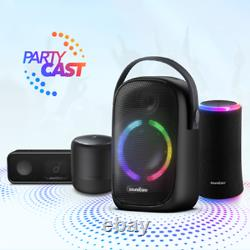 Anker Soundcore Rave Neo Portable Bluetooth Party Speaker with Lights, BassUp Te
