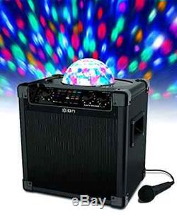 Audio Block Party Live Portable Bluetooth Speaker System Party Spinning Lights