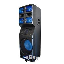 Axess PABT6027 12 Rechargeable Party Speaker +Bluetooth +USB/AUX/FM/LED +Mic