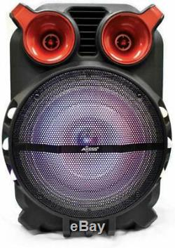 Axess PABT6056 Bluetooth Trolley PA Speaker with Party LED Lights 5000 Watt 12 FM