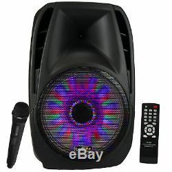 BEFREE 15 5000W WATT DJ PA PARTY SPEAKER with MIC REMOTE LIGHTS BLUETOOTH NEW