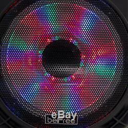 BEFREE SOUND 12 BLUETOOTH PARTY KARAOKE PA DJ SPEAKER with LIGHTS MIC & REMOTE