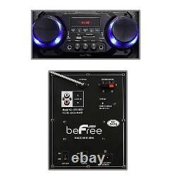 BEFREE SOUND 2x10 WOOFER BLUETOOTH PORTABLE PA DJ PARTY SPEAKER + LIGHTS & MIC