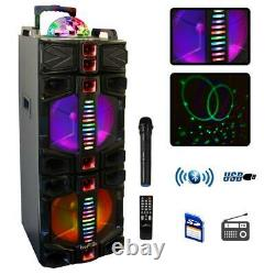 BEFREE SOUND Dual 12 in. Subwoofer Portable Bluetooth Party Speaker with