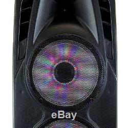 BLUETOOTH Portable 3000w Party PA SPEAKER with DUAL 12 Subwoofer BASS, AMP, MIC