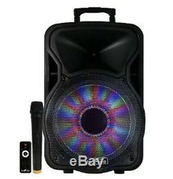 BeFree 12 2500W Bluetooth RECHARGEABLE PORTABLE Party SUBWOOFER Speaker KARAOKE