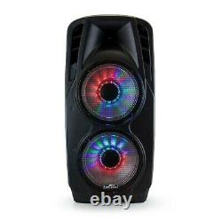 BeFree Dual 12 3000W PMPO Subwoofer Portable Bluetooth Party PA DJ Speaker MIC