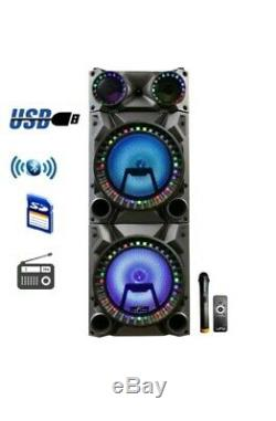 BeFree Rechargeable Bluetooth 12inch Double Subwoofer Portable Party Speaker