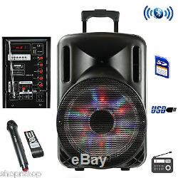 BeFree Sound 12 Inch Bluetooth Rechargeable Party Speaker With Illuminatiing Lig
