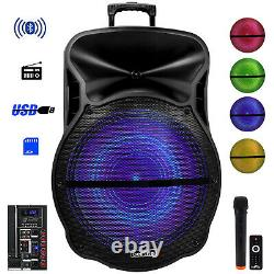 BeFree Sound 18 Inch Bluetooth Portable Rechargeable Party Speaker with Sound R