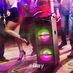 BeFree Sound Double 10 Inch Subwoofer Portable Bluetooth Party Speaker with Reac