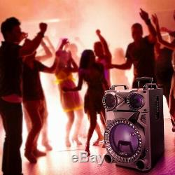 BeFree Sound Rechargeable 12 Bluetooth Portable Party Speaker with Party Lights
