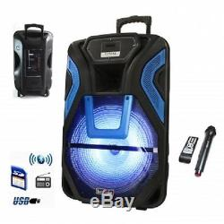 BeFree Sound15RECHARGEABLEBluetoothPARTY DJ PA SPEAKER SYSTEMwith MIC&LIGHT