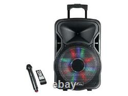 Befree Sound BFS-5800 15 in. Bluetooth Rechargeable Party Speaker with Illuminat