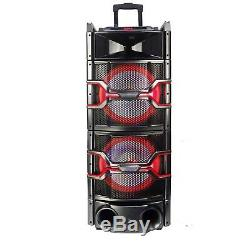 Befree Sound Dual 12 Subwoofer Bluetooth Portable Party Speaker Reconditioned