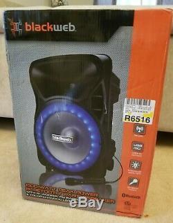 Blackweb BWA17AA007 1500-watt Bluetooth Party Speaker Black With FM Radio