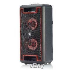 Blackweb Bluetooth Party Speaker Large LED Lighting Effects 160 Watts