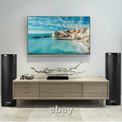 Bluetooth Home Speaker Sound System Set Of 2 Party Karaoke Stereo DJ Hi-Fi Stand