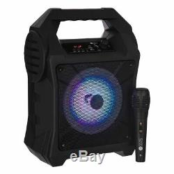 Bluetooth Karaoke Machine Portable Party Lights Mics LED Light Speaker Songs MP3