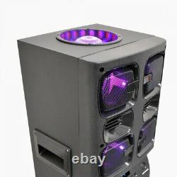 Bluetooth Loud Party Speaker With 6 Speakers 4900 Watt Power LED Disco Lights